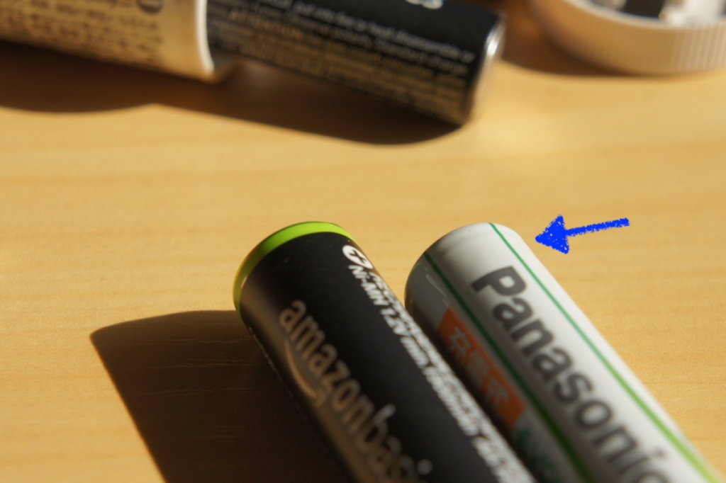 Amazon ベーシック 充電式乾電池 スペーサー エボルタ