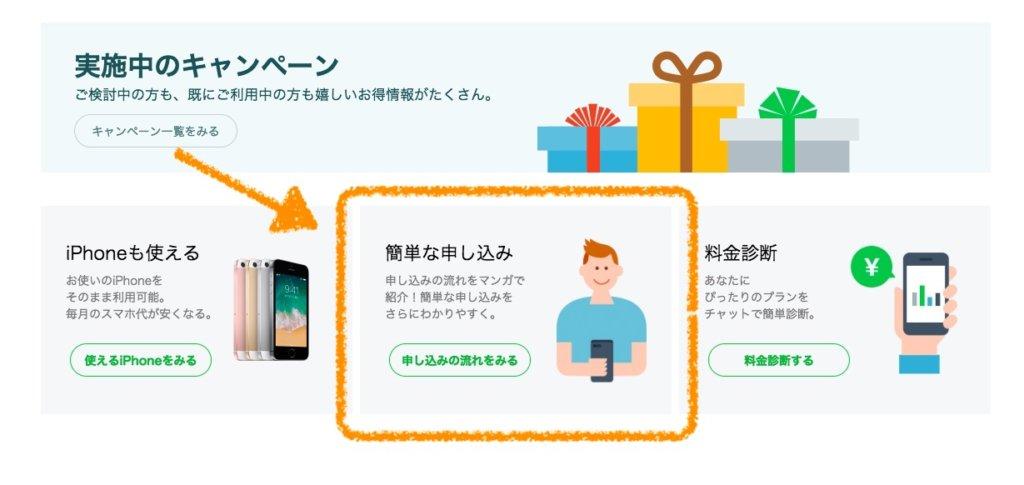 LINEモバイル LINEMOBILE 申し込み 方法 乗り換え 格安SIM